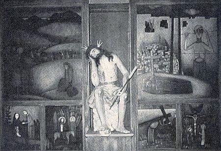 Tzv. oltář vyhnanců v kostele Kreuzkirche ve Furth in Walde