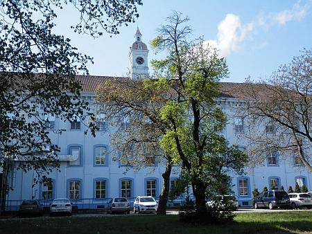 A bývalá tabáková továrna v Českých Budejovicích, kde pracoval matčin otec