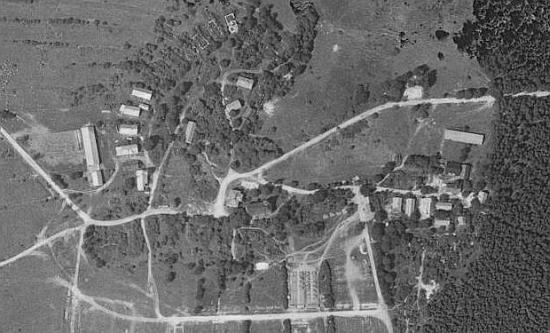 Rodná ves Bohuslav na leteckých snímcích z let 1958 a 2008