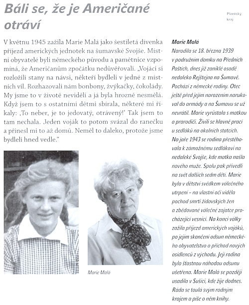 Její stránka v knize pamětníků konce druhé světové války