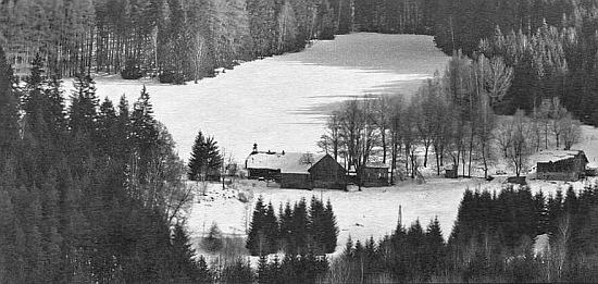 Statek na Jelenově v zimě