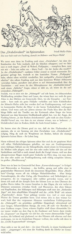 Tato povídka o šumavském masopustě je dokonce v šumavském kalendáři uvedena působivou ilustrací