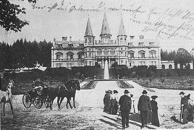 Někdejší zámek Poschingerů v Oberfrauenau