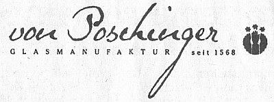 """Logo skláren""""von Poschinger"""""""