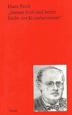Obálka (2004) knihy z pasovského nakladatelství Stutz o Erhardu Kutschenreuterovi se skladatelovou podobiznou