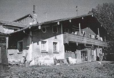"""Někdejší hostinec """"Zur Rutsch'n"""" (Na smyku) v Haidmühle, dějiště operety """"Na české hranici"""""""