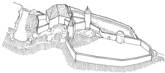 Rekonstrukce možné podoby královského hrádku v Kuklově