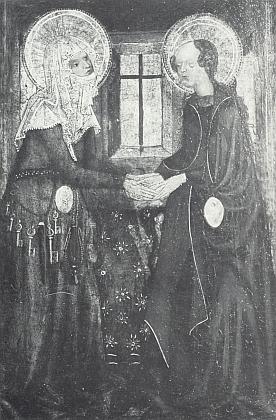 Navštívení Panny Marie na deskovém obraze zKuklova (15. století)
