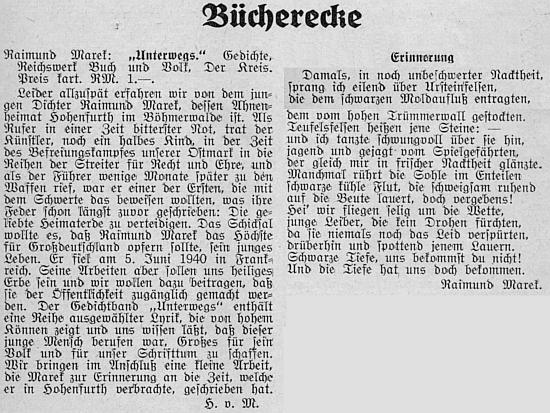 Celý text recenze jeho jediné knihy od Herberta von Marouscheka