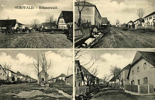 Chlum na staré pohlednici