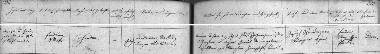 Záznam z frymburské matriky vypovídá o tom, že se tu narodil v čp. 18 Andreasi Markusovi a jeho ženě Marianě, té rodem z Horní Plané