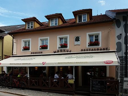 ... dnes obnoveném jako Markus Pension & Restaurant