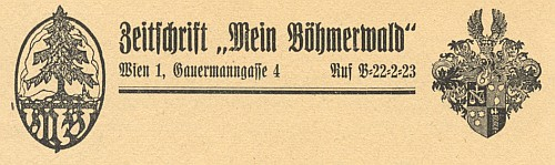 Záhlaví redakce a erb rodu (1942)
