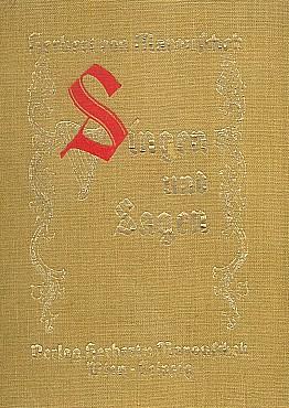 Obálka (1943) sbírky básní Singen und Sagen vydané ve Vídni vlastním nákladem