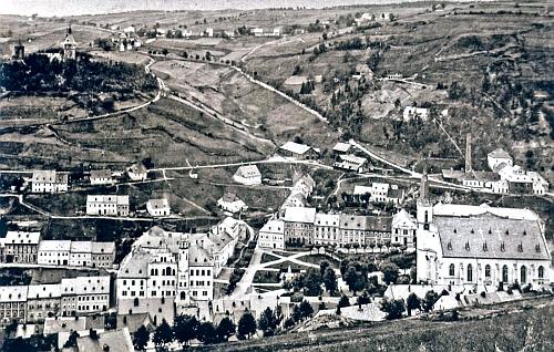 Rodný Jáchymov na snímku z počátku 20. století