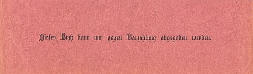 """Červená papírová záložka má tu zvěstovat o kaplické vlastivědě, že """"kniha může být vydána jen proti zaplacení v hotovosti"""""""