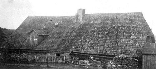Někdejší Matejkových chalupa ve Starých Hutích čp. 77