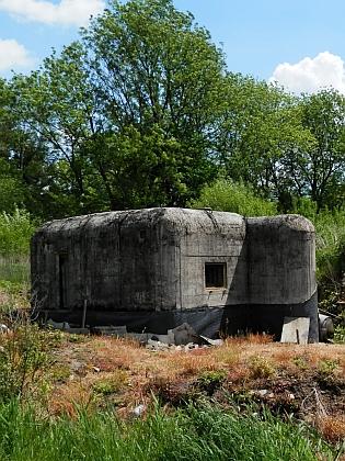 Jeden z bunkrů u Křenova na snímku z roku 2015