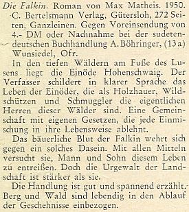 Recenze jeho knihy na stránkách vánočního čísla krajanského měsíčníku v roce 1951