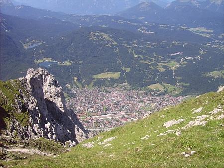 Alpský Mittenwald, kde zemřel