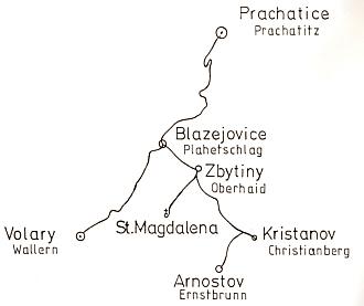 Mapa na frontispis a jeho pozdrav rodákům