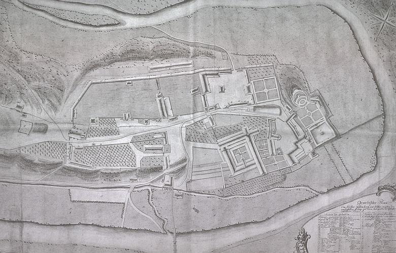 Matzův Geometrický plán kláštera Zlatá Koruna z roku 1787, objevený roku 2006 v českokrumlovském pracovišti Státního oblastního archivu Třeboň (viz i Hanns Pfeiffer)