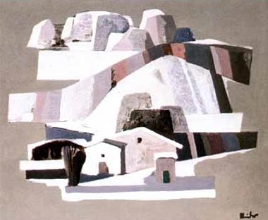 Obraz nazvaný Zimní krajina