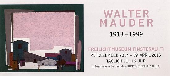 Pozvánka na jeho výstavu ve skanzenu Finsterau roku 2015