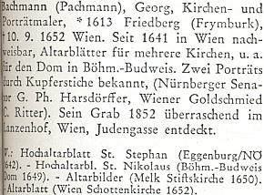 Heslo Georga Bachmanna (Pachmanna) vživotopisném lexikonu k dějinám českých zemí