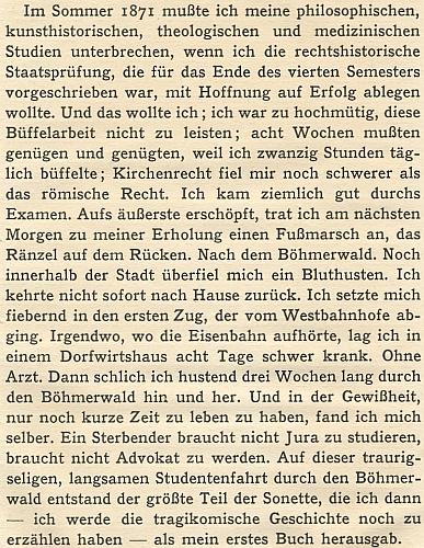 ... a pasáž z něho, svědčící o šumavské inspiraci první Mauthnerovy básnické knihy