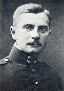 Jako jednoroční dobrovolník na budějovickém snímku zroku 1912