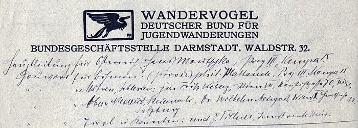 Záhlaví jednoho z jeho vlastnoručně psaných dopisů zachycuje i pisatelův autogram