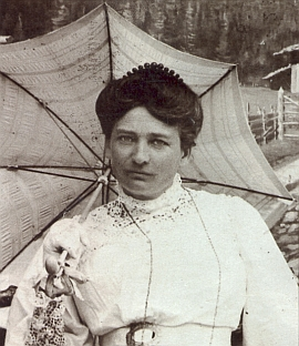 Druhá Mayova žena Klara, poprvé provdaná Plöhnerová