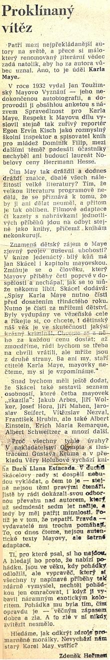 Nad jeho oblibou se takto zamyslel Zdeněk Heřman (1934-1996)