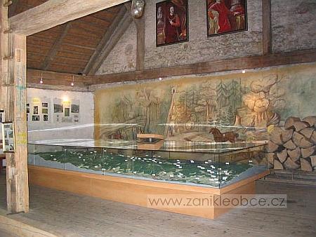 Muzeum Schwarzenberského kanálu na Jeleních Vrchách snástěnným využitím Langweilovy scenerie