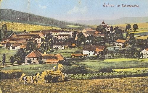 Rodná Želnava na pohlednici Josefa Seidela z roku 1911