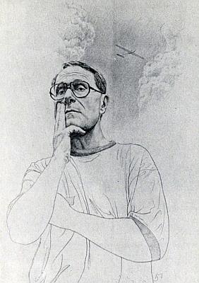 """Autoportrét (1994) s názvem: """"Já sám coby myslitel"""""""