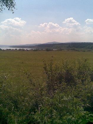 Dnešní (2010) pohled na prostor, kde probíhala těžba rašeliny u Dolní Borkové