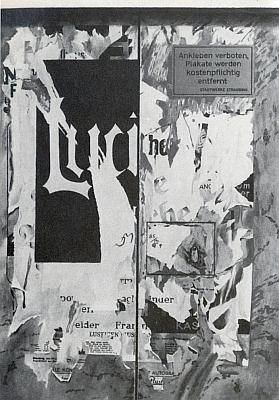 Černobílá reprodukce jedné z jeho olejomaleb