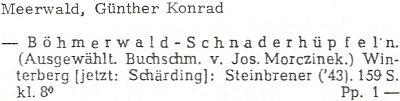 Anotace jeho titulu v německé bibliografii 1911-1965