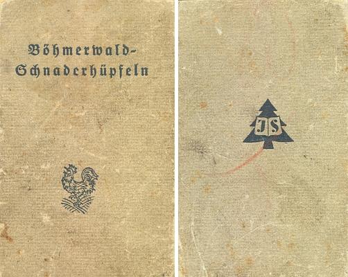 """Steinbrenerův vimperský tisk z roku 1943 obsahuje jeho výbor šumavských""""Schnaderhüpfeln"""" i se slovníčkem nářečních výrazů"""