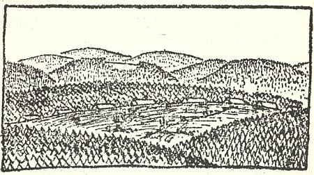 Karel Čapek si své cestovní obrázky ze Šumavy sám i ilustroval, a tak se ocitla v Obrázcích z domova i prachatická a krumlovská věž vedle jakési zapadlé šumavské vsi (mohl by to být třeba Gsenget se svými sedmi staveními)