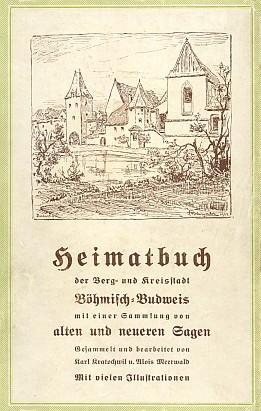 Obálka knihy vydané v Českých BudějovicíchKarlem Kratochwilem skresbou F. Blumentritta (1930)