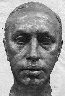 Busta Karla Čapka ze sbírek svatoňovického Muzea bratří Čapků vytvořil sochař Karel Prosecký