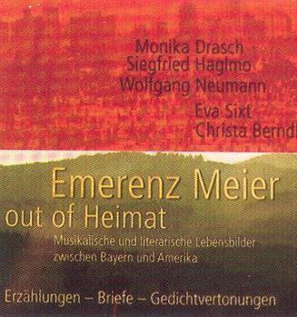 Obálka (2006) dvou kompaktních disků snejnověji zhudebněnými básněmi autorky, psanými německy, ovšem už za jejího pobytu vUSA (nakladatelství Morsak, Grafenau)