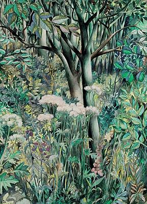 Obraz z roku 1976 nese název Kvetoucí louka s pozadím lesa
