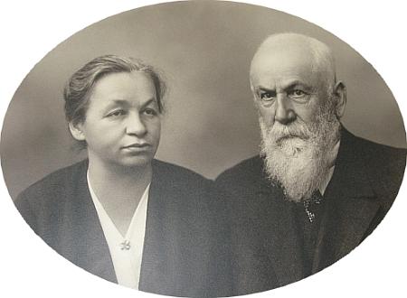 S manželkou Gabrielou, roz. Niedlovou, na snímku z doby někdy kolem roku 1935