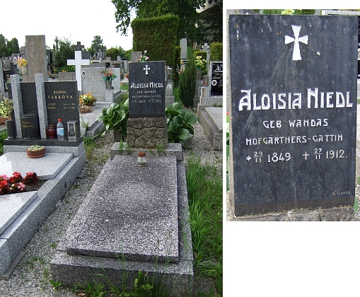 Hrob v Mladém, kam bylo uloženo jeho tělo, náležel rodičům jeho ženy (pro záznam o jeho pohřbu viz opět Emmerich Zdiarsky)