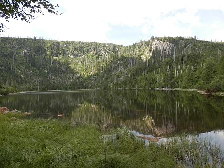 Plešné jezero v roce 2019