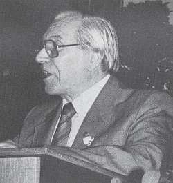 Jako řečník na krajanském setkání v Ingolstadtu v roce 1991...